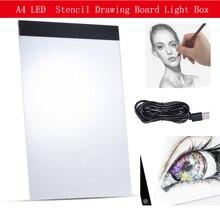 Pad lumineux diamant peinture A4 LED artiste mince Art pochoir planche à dessin boite à lumière traçage écriture Portable électronique Diamont