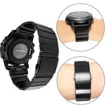 YOOSIDE 26mm Quick Fit Fenix 5X Metal Stainless Steel Watch Band Strap for Garmin Fenix 5X/5X Plus/Fenix 3/Quatix 3/Tactix Bravo