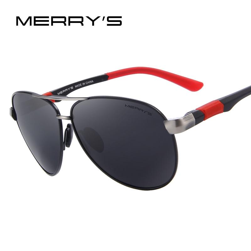 MERRYS DESIGN Men Classic Pilot Sunglasses HD Polarized Sunglasses For Driving Aviation Alloy Frame