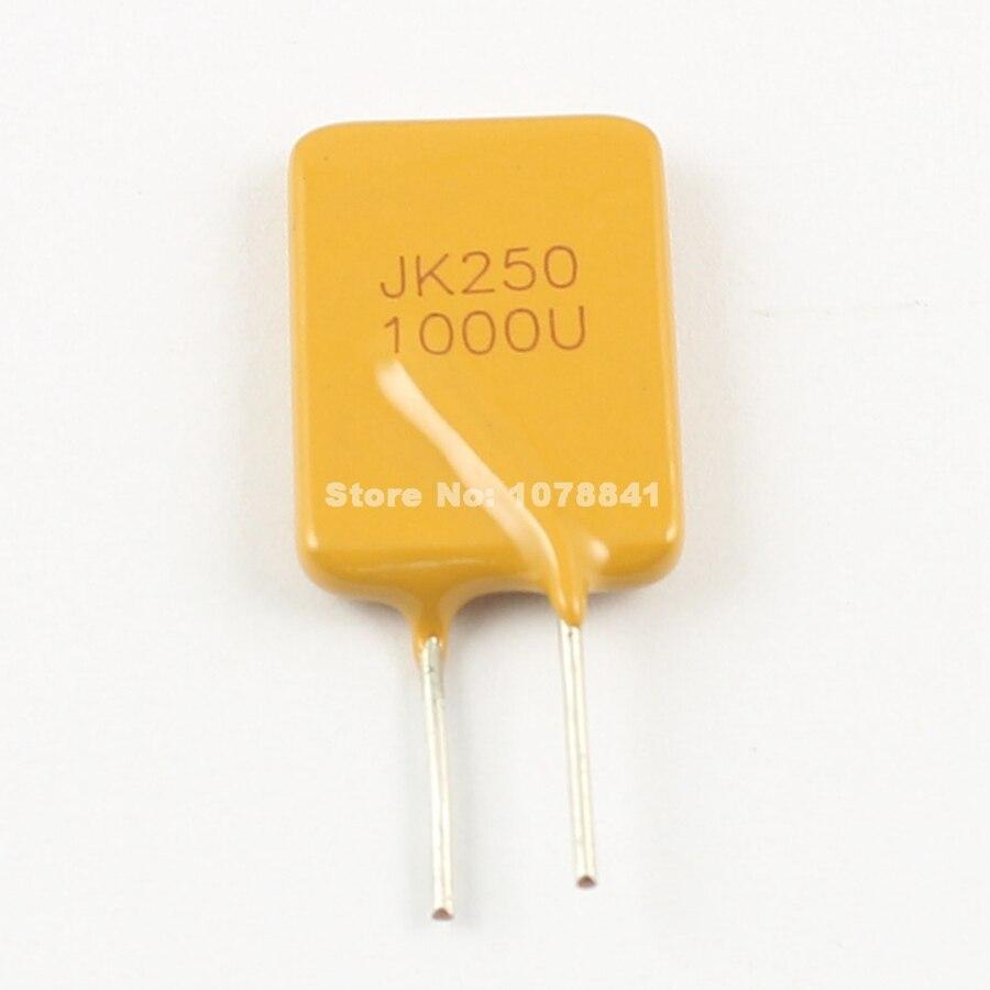 10 Uds. Por lote, fusible reajustable de polímero JinKe PPTC PTC DIP, 250V 1A JK250-1000U