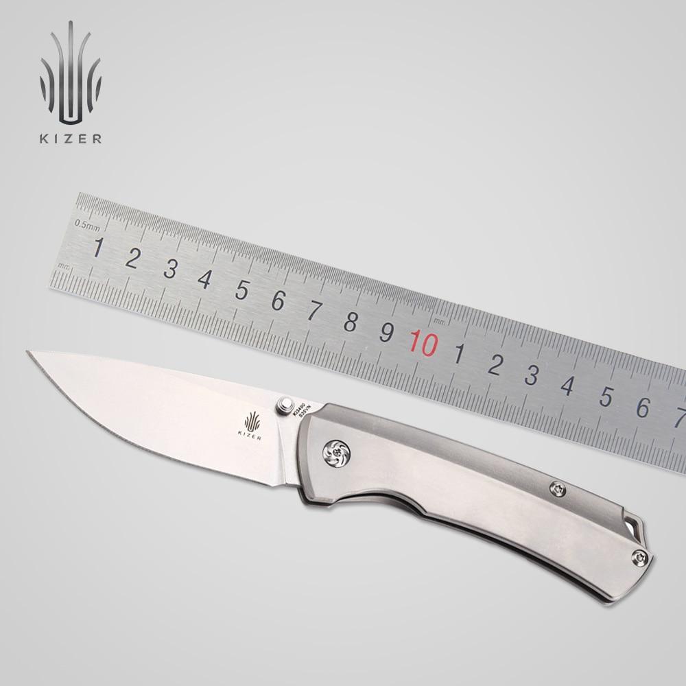 Kizer-سكين نجاة للتخييم والصيد ، Ki3490 T1 ، شفرة s35vn ، أداة يدوية عالية الجودة
