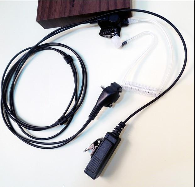 Гарнитура с микрофоном, акустическая Скрытая трубка PTT для стандартной двухсторонней радиосвязи вертекса, детской серии VX451, VX454, VX459