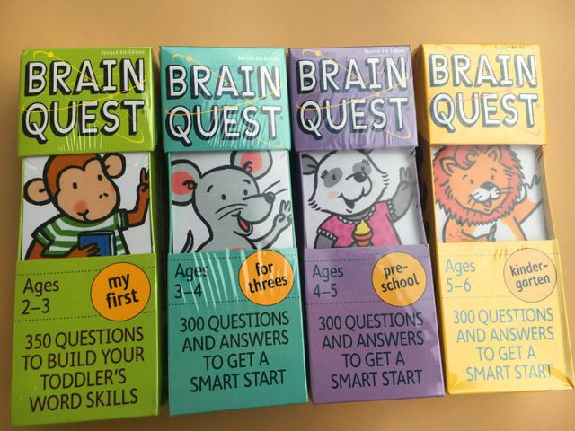 Brain Quest English version of the intellectual development card books questions and answers card smart start Child kids недорого