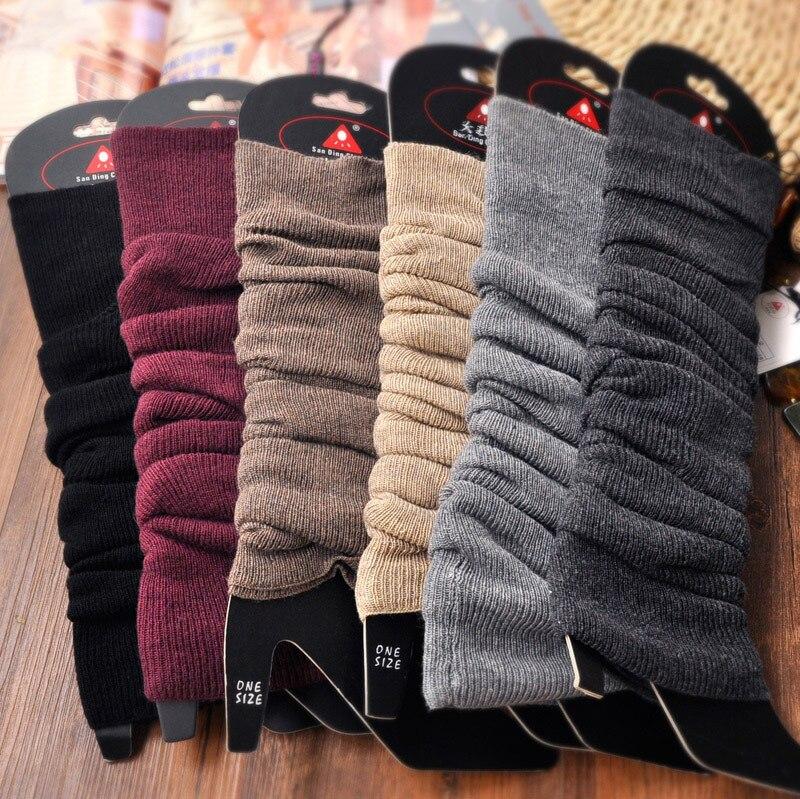 Осень зима тонкий вертикальный узор шерсть кашемир вязаные сапоги гетры для женщин девочек теплые вещи в холодную снежную погоду