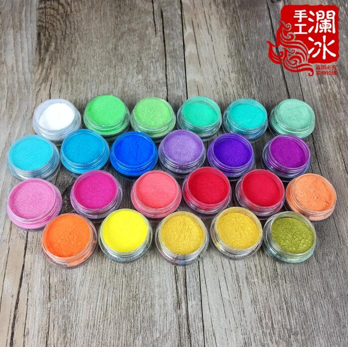 22Colors Natural Mineral Cosmetic Mica Pearl Pigment Nail Powder Color Pearlescent pigment,pearl luster pigment,Mica Powder