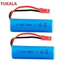 YUKALA 2 pc 3,7 v 1500 Mah Li-Ion batterie 15C 18600 JST stecker für rc boot rc auto rc hubschrauber