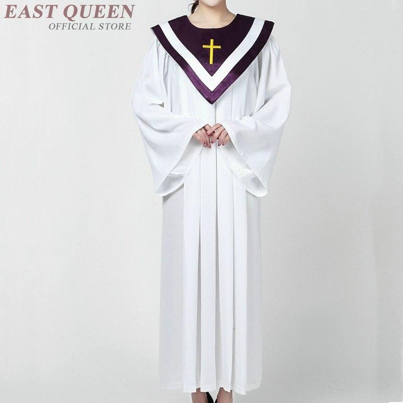 Vestidos de clero disfraz de sacerdote adulto vestido coro vestidos para iglesia cristiana ropa DD1273