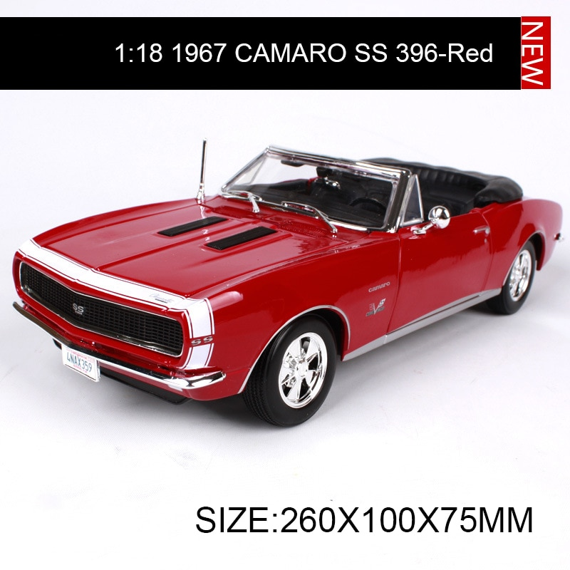 Maisto 118 diecast Car Chevy 1967 CAMARO SS 396 Roadster Muscle Cars aleación coche Metal vehículo coleccionable modelos juguetes para regalo