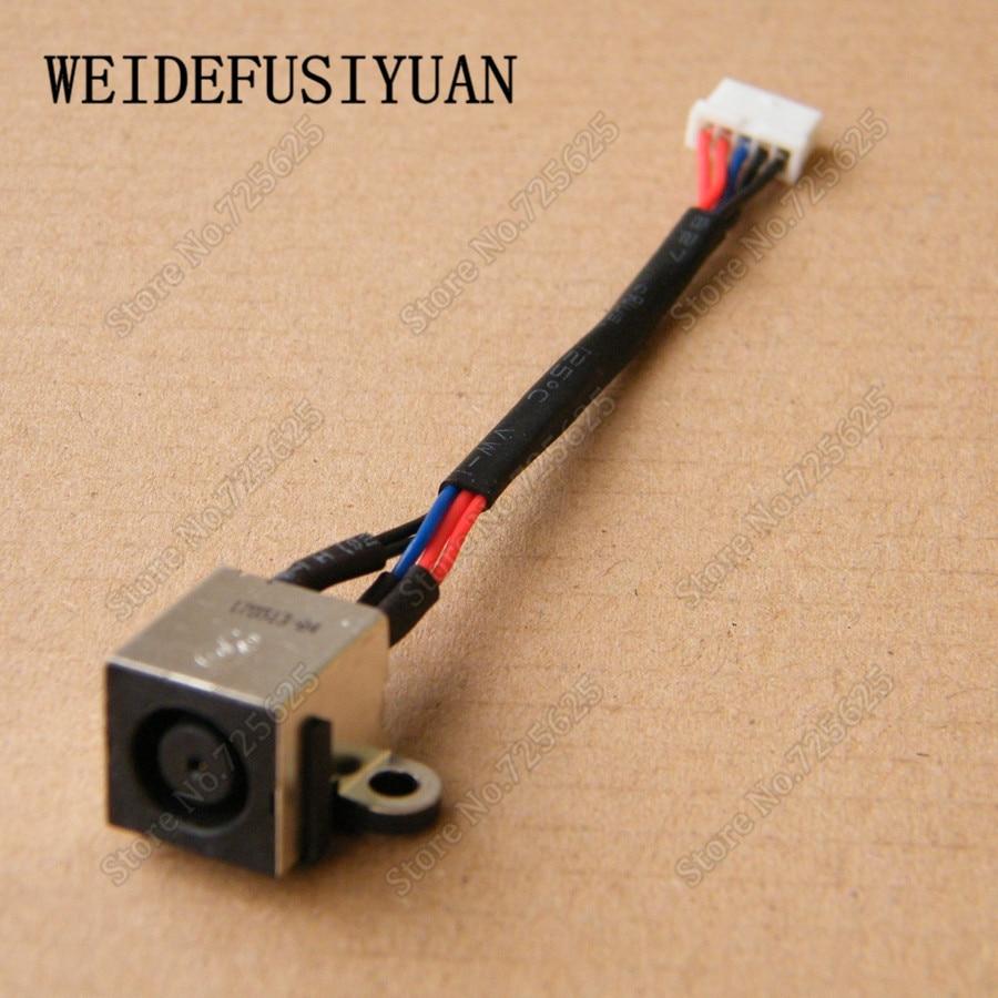 10 unids/lote AC DC Power Jack Harness Cable para Dell Inspiron 14R 7420, 5420 de 5425 Vostro 3460 M421R
