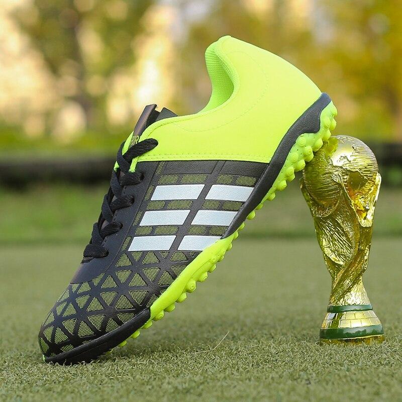 2018 hombres niño niños fútbol tacos césped fútbol zapatos TF Hard Court zapatillas de deporte de entrenamiento nuevo diseño botas de fútbol tamaño 31-43