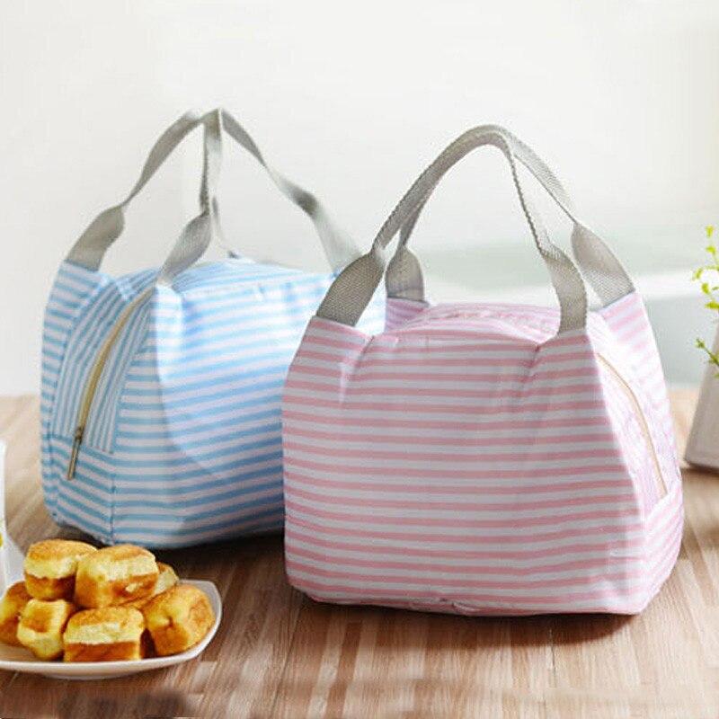 Bolsa de almuerzo de paño Oxford con aislamiento portátil de moda, bolsos para la comida de Picnic térmica, bolsos para la comida para mujer, bolsa de almuerzo estampada para hombres y niños, bolsa de mano