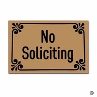 funny printed doormat entrance floor mat no soliciting non slip doormat 23 6 by 15 7 inch machine washable non woven fabric