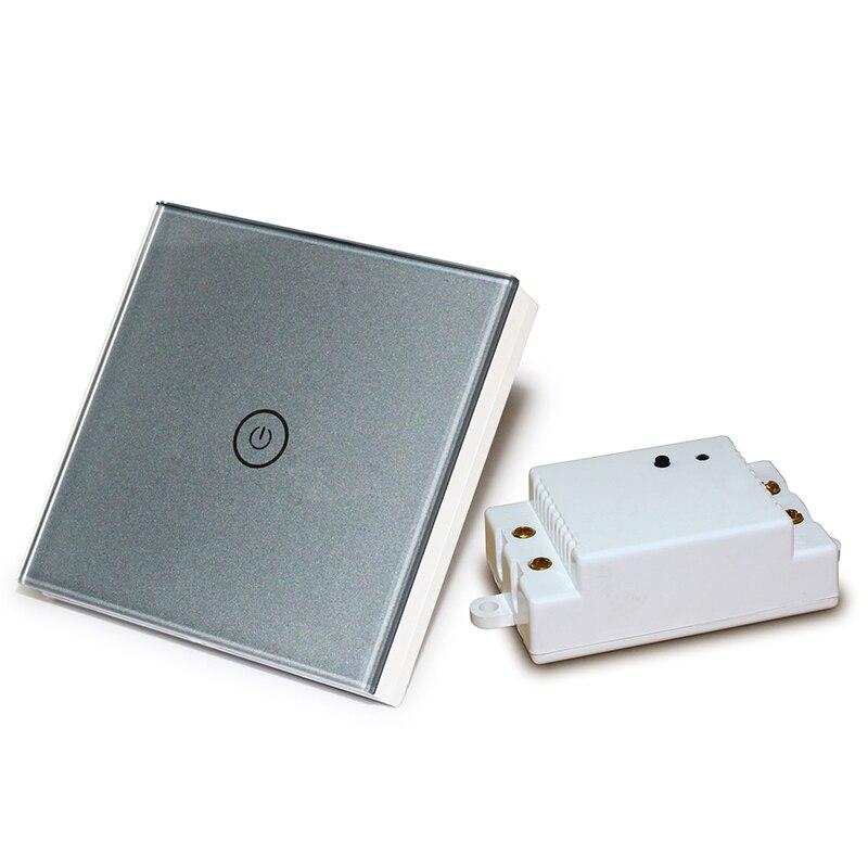 Interruptor de luz táctil inalámbrico, 1 banda, indicador LED de 1 vía,...