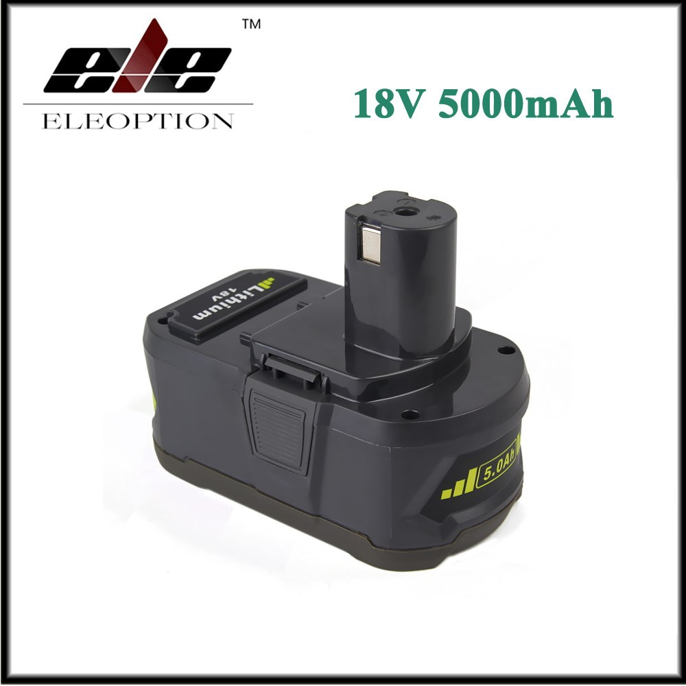 Eleoption 18V 5000mAh Li-Ion batería recargable para Ryobi P108 RB18L40 P2000 P310 para Ryobi para ONE + BIW180