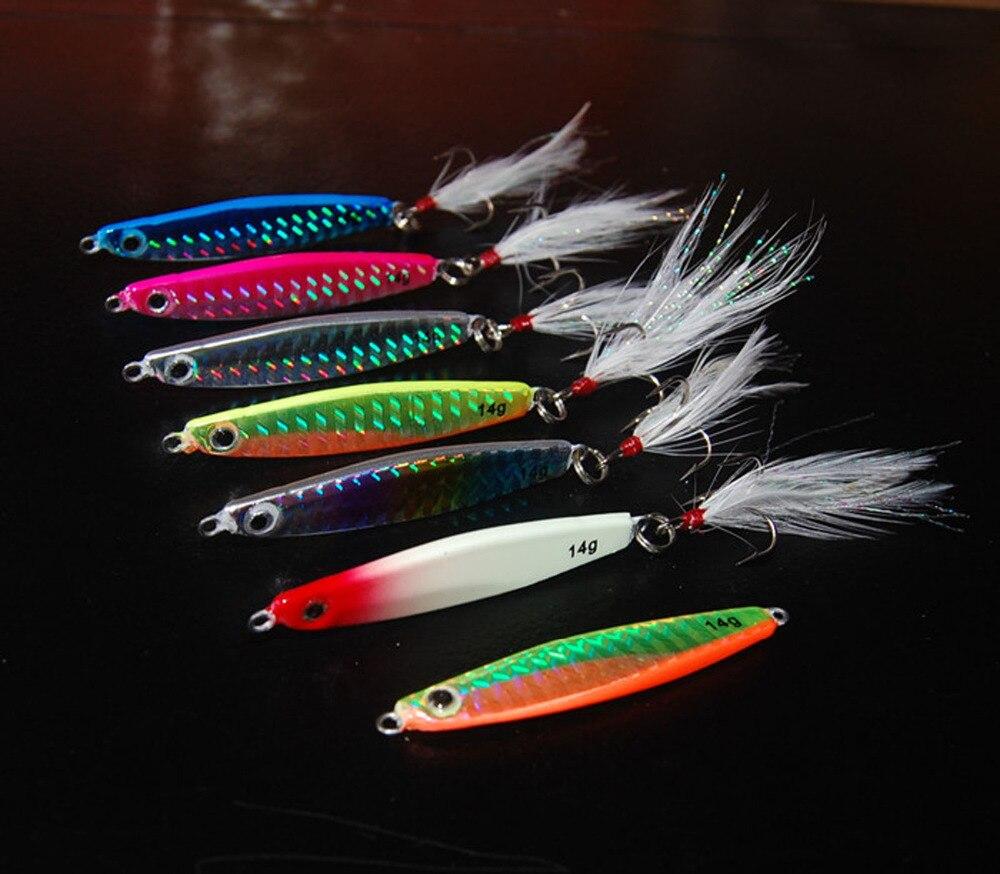 5PCS Slow Jig Glow Fishing Deep Sea Ocean Jigging Jigbait 10g//17g//21g//28g//40g