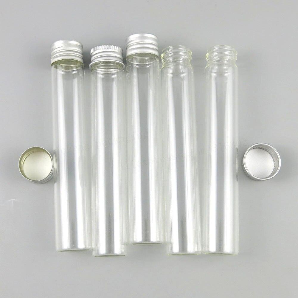 Tubo de vidrio transparente recargable portátil de 30ml con tapa de rosca 1OZ tubo de vidrio superior de tornillo 30 cc botella de vidrio superior 30 Uds