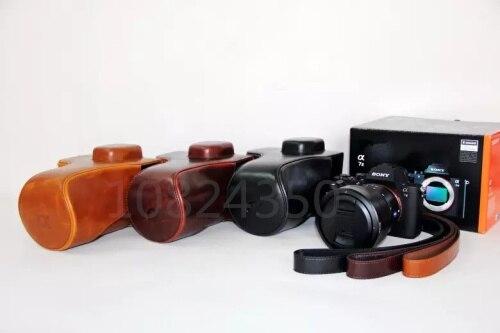 Correa de bolso de cámara de cuero para Sony Alpha A7 Mark...