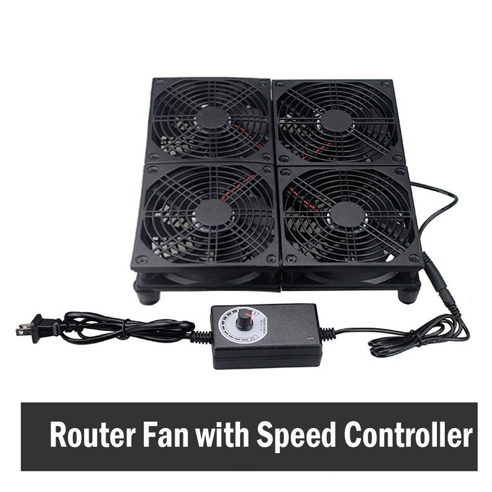 Router radiador soporte luz gato Set-top box interruptor ventilador de enfriamiento para...