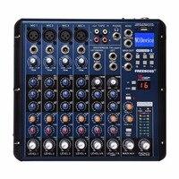 FREEBOSS SMR8 Bluetooth USB Record 8 Channels (4 Mono + 2 Stereo) 16 DSP Effects USB Professional DJ Mixer