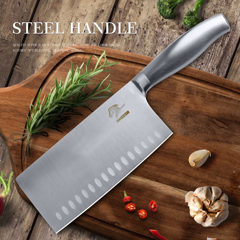 Cuchillo chino de carnicero profesional, cuchillo de Chef de cocina, cuchillo de carnicero de acero inoxidable, herramienta para cortar cuchillos de cocina