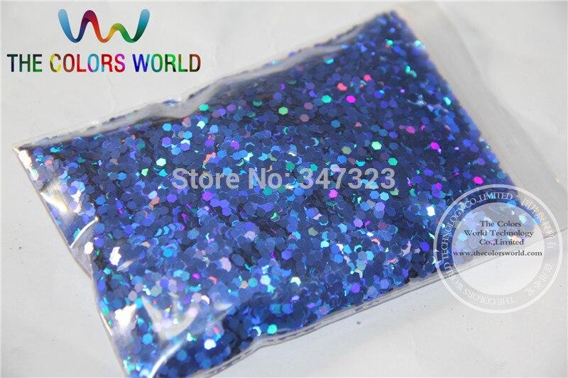 2 MM holográfica Color azul real purpurina lentejuelas para arte de uñas y otros accesorios de bricolaje
