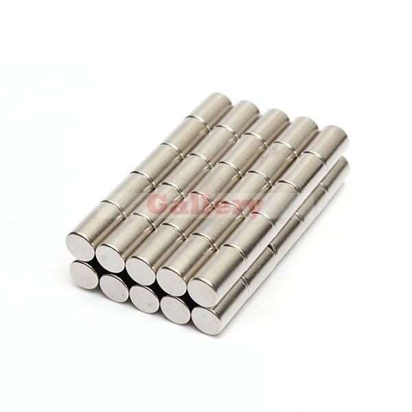 50 قطعة الكثير N50 قوي النيوديميوم القرص مغناطيس 6x10mm