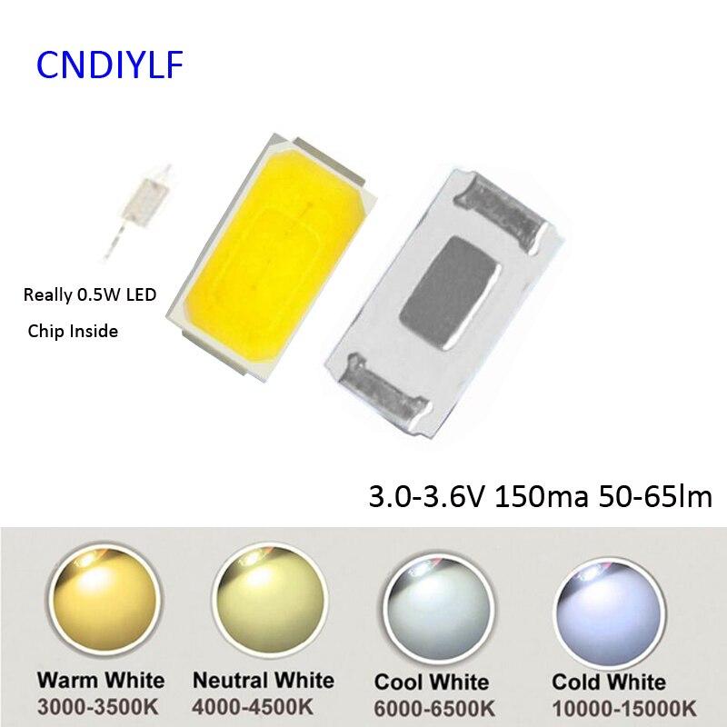 High Brightness Really 0.5W 5730 SMD LED 150ma 3V 50-60lm 100pcs/Lot Fast Shipping