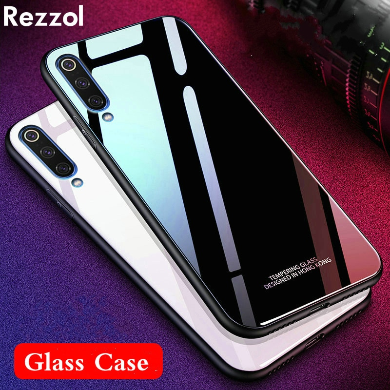 For Xiaomi Mi 9 se Global mi 9 Case Tempered Glass Case Hard Glass Back Phone Cover For Xiaomi MI9 global Mi9se Shockproof