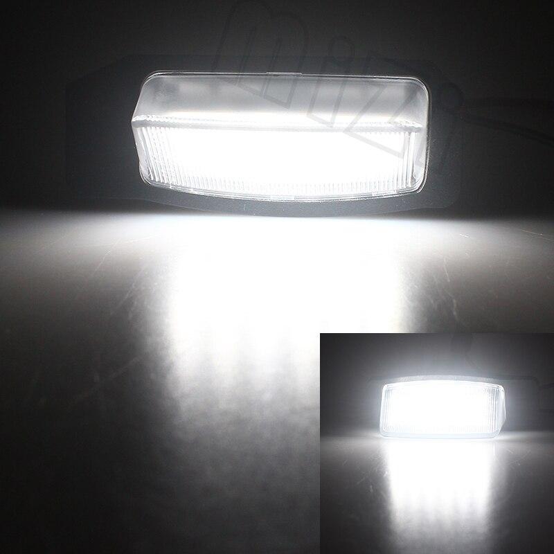 2Pcs LED Number License Plate Lamp Light For Mitsubishi Lancer Sportback 2008-2012 For OUTLANDER XL(CW) 2006-2012 Car Accessory