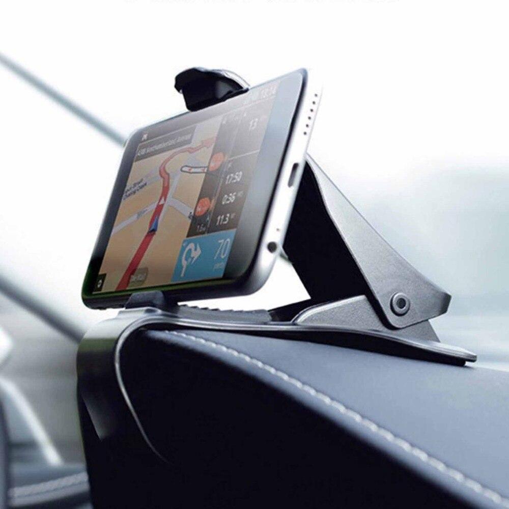 Najnowszy uniwersalny uchwyt regulowany uchwyt na GPS HUB Dashboard uchwyt do telefonu Smartphone nawigacja GPS czarny wspornik do uchwytu samochodowego