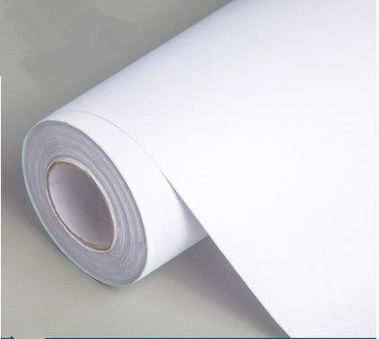 Papel tapiz blanco puro, papel tapiz autoadhesivo impermeable de fondo grueso de PVC, papel tapiz para dormitorio, dormitorio autoadhesivo cálido, 10 metros