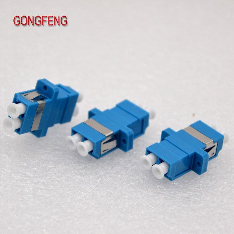 GONGFENG 400 Uds nuevo acoplador conector de fibra óptica LC PC monomodo adaptador dúplex OM3 OM4 brida Telecom envío gratis a Rusia