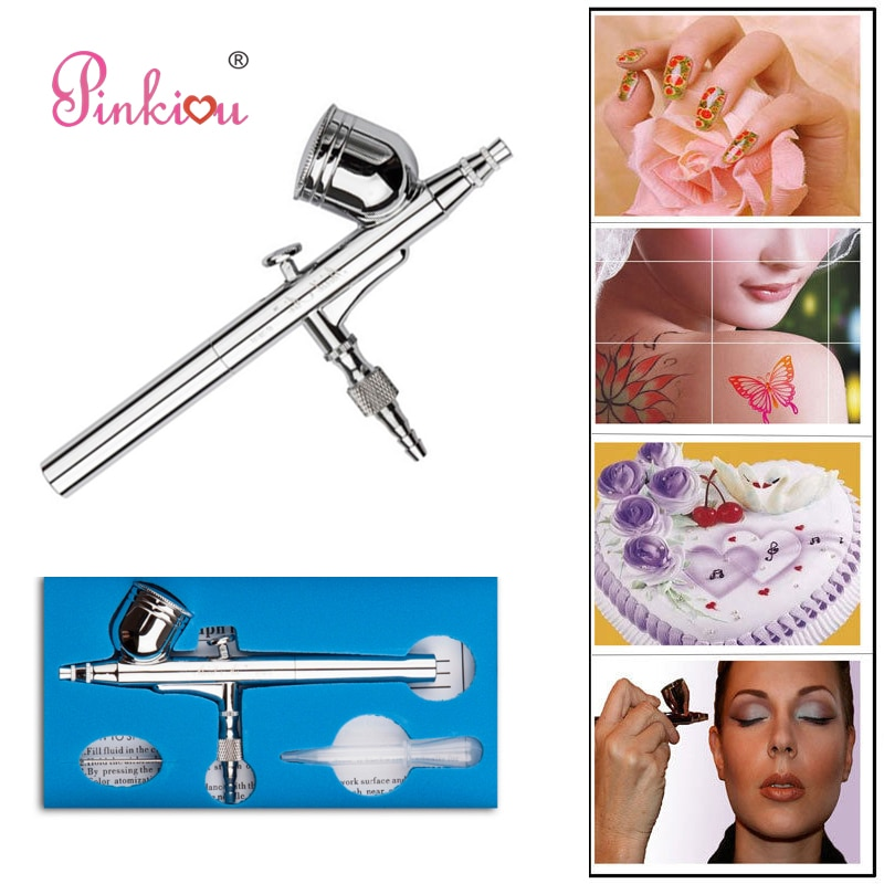 Pinkiou Dual Action Airbrush Aerograph Kit Air Pinsel Nagel Spray Stift Körper Malen TattooS acrylfarben Kunst kosmetikerin Make-Up