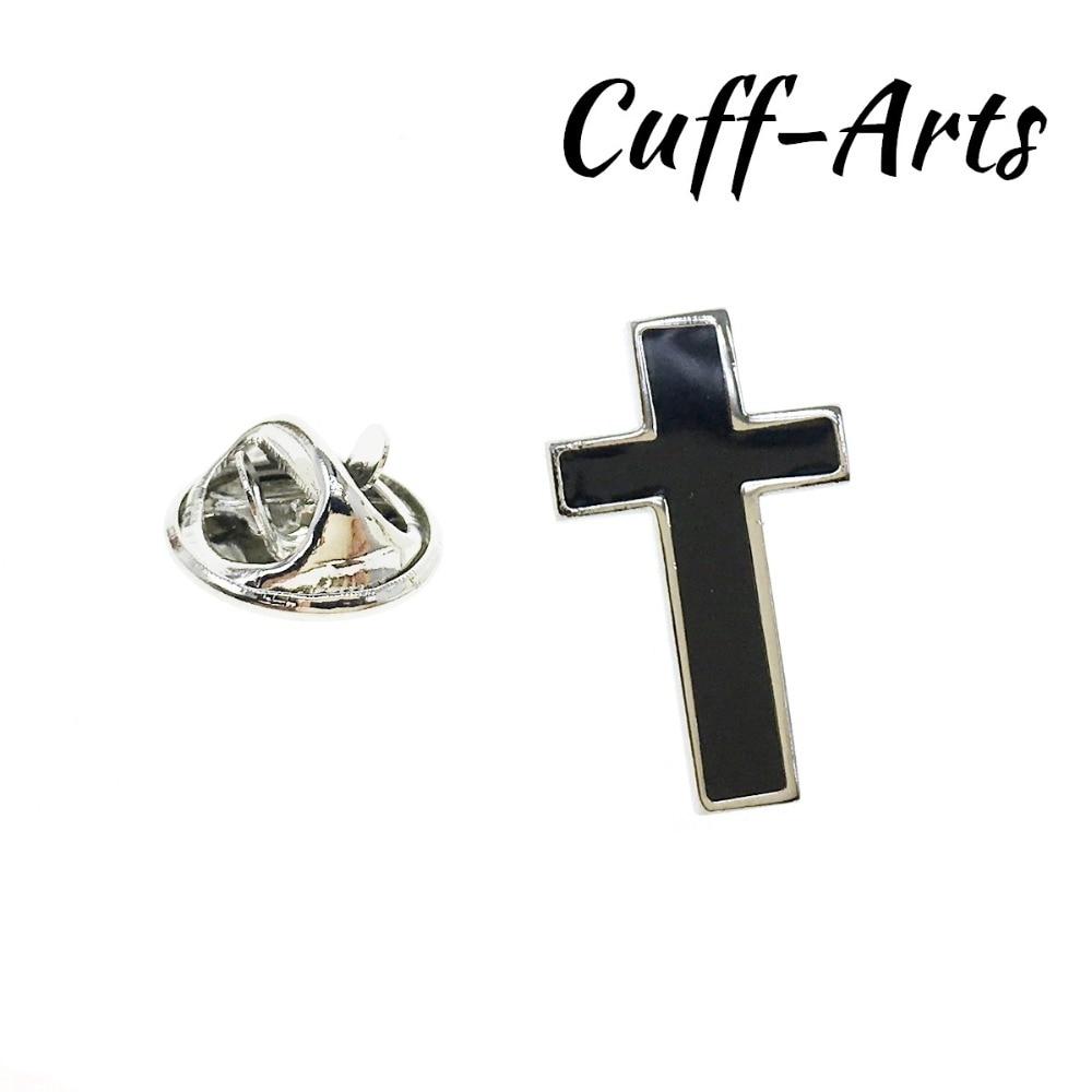 Lapel Pin For Men Black Cross Lapel Pin Badge Pride Brooch Hijab Pins Enamel Pin Broche Pusheen With Gift Box by Cuffarts P10231
