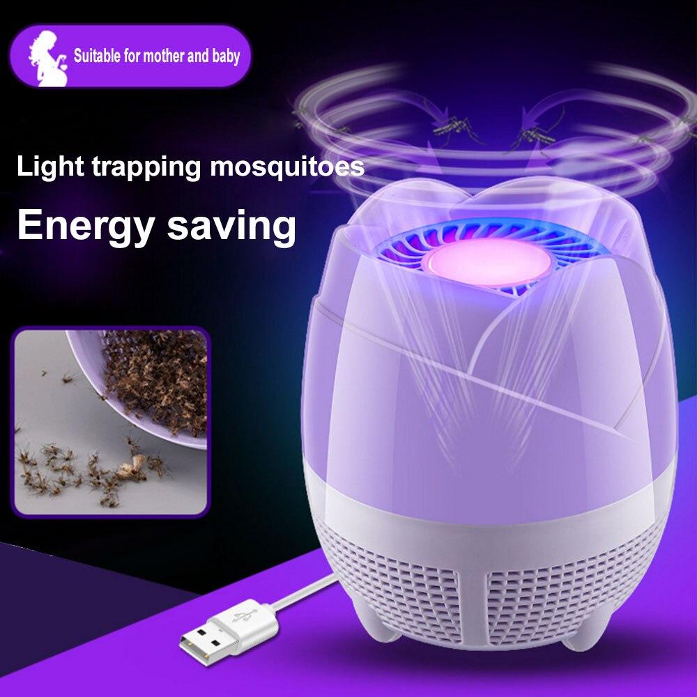 UV violeta repelente de mosquitos con USB PP lámpara eléctrica antimosquitos insectos...