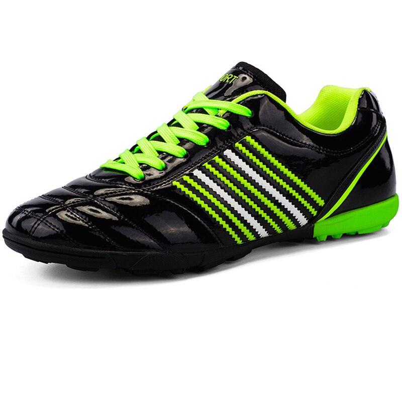 Детские кроссовки из мягкой кожи; Черные футбольные кроссовки для мальчиков; Детские футбольные бутсы; Обувь для тренировок для мальчиков; ...