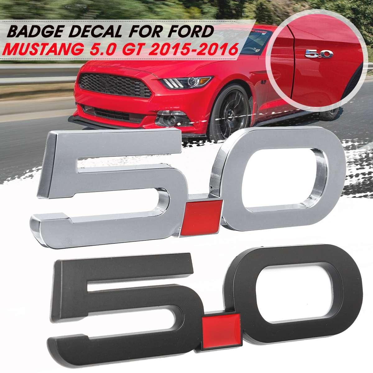 Metal Car 5.0 Decal Sticker Cover for Fender Emblem Bandage Decoration For Ford/Mustang 5.0 GT 2015 2016