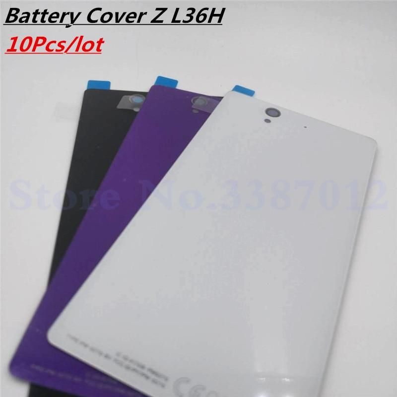 10 шт./лот стеклянная Задняя крышка батареи для Sony Xperia Z L36H L36 C6603 C6602 замена корпуса задней двери с NFC
