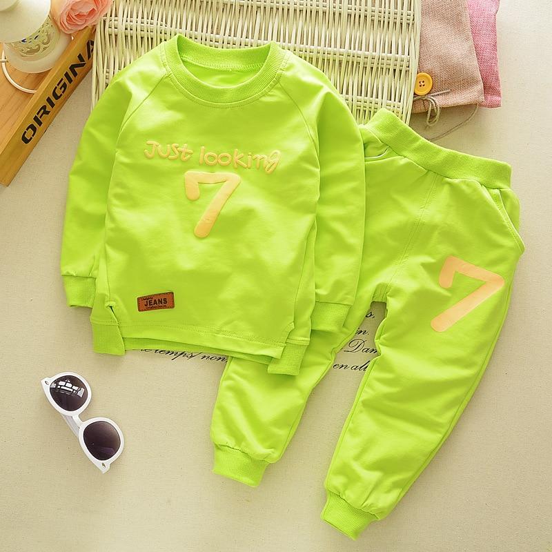 Diimuu moda infantil meninos meninas roupas casuais crianças conjuntos de roupas manga longa algodão calças esportivas ternos