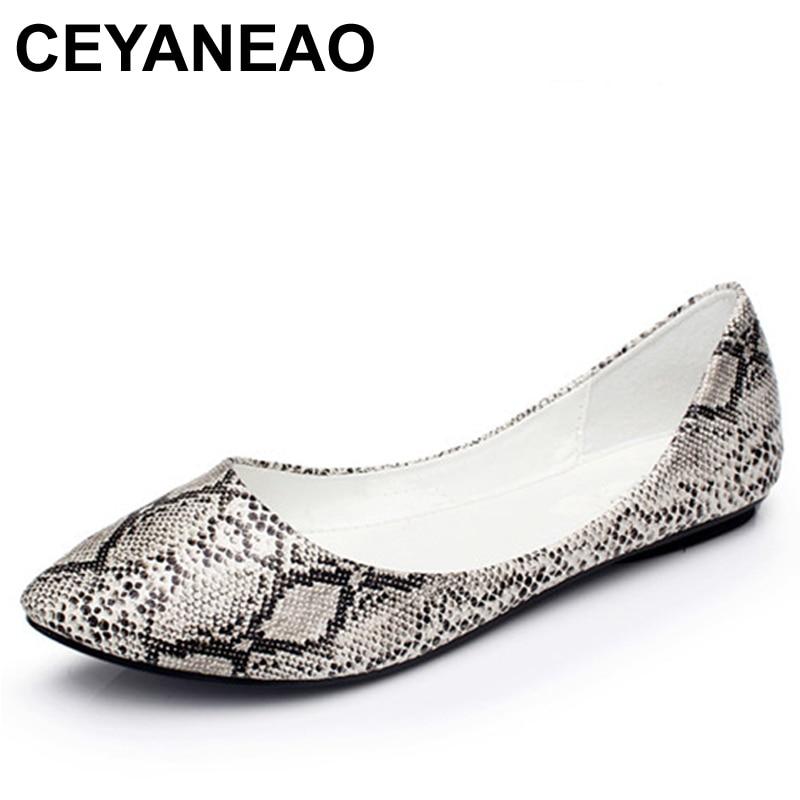 CEYANEAONew 2019 Primavera Verano mujeres pisos moda sexo zapatos planos mujer Casual zapatos mujeres barco ShoesE2090