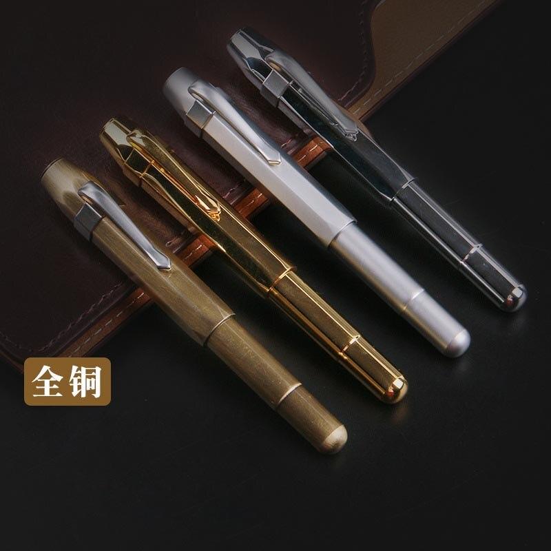 Высокое качество Винтажный фонтан из латуни ручка чернильная ручка перо Металл Stylo plume Канцтовары Caneta tinteiro Vulpen Penna stilografa 03876