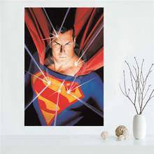 Affiche murale de peinture en soie   En forme de royaume, Come Superman Batman, peinture sur toile, tissu imprimé bricolage
