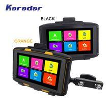 KARADAR-voiture à moteur gps   Étanche IPX6, navigation 1G de RAM, bluetooth 4.0 WIFI IPS, écran 854*480, Android 4.4.3, chargée google APP