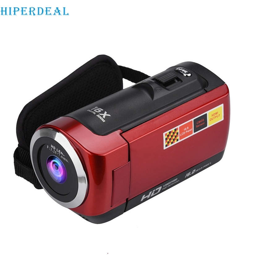 "HIPERDEAL HD-C7 videocámara Full HD 1080P videocámaras portátiles 16x Zoom 16MP uso doméstico cámara Digital 2,7 ""Pantalla LCD giratoria #"
