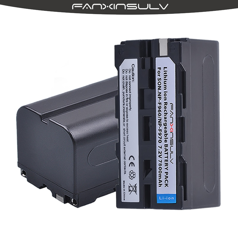 2 verdadeiro capacity7800mAh NP-F970 Baterias NP F970 F960 Bateria Para sony dcrvx2100 hdrfx1 HXR-NX3 fx7 hd1000u hvrz1u pm092 mc2500