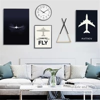 minimalist aeroplane quotes art canvas art print painting modern wall picture home decor bedroom decorative posters no frame