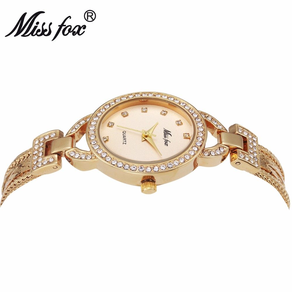 MISSFOX Women Watches Cute Steel Mesh Teenage Girls Watches Small Female Pearl Shell Quartz Gold Fashion Ladies Wrist Watches enlarge