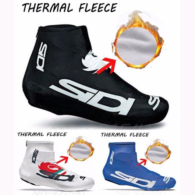 6 colores de lana de invierno térmico protector para calzado de ciclismo de la zapatilla de deporte bicicleta cubrezapatos bicicleta de carretera MTB invierno cálido protector para calzado de ciclismo