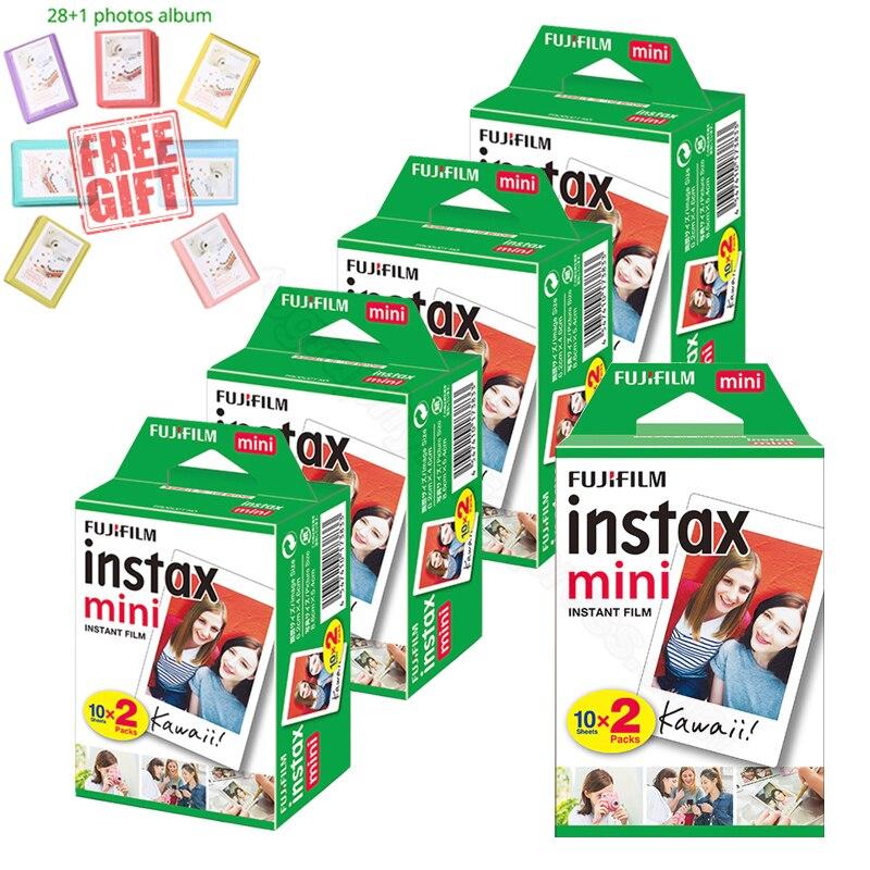 Fujifilm Instax Mini blanco instantáneo película + álbum GRATIS para Instax Mini 9 8 8 + 7s 70 90 25 Cámara impresora Liplay SP-2 Polariod 300
