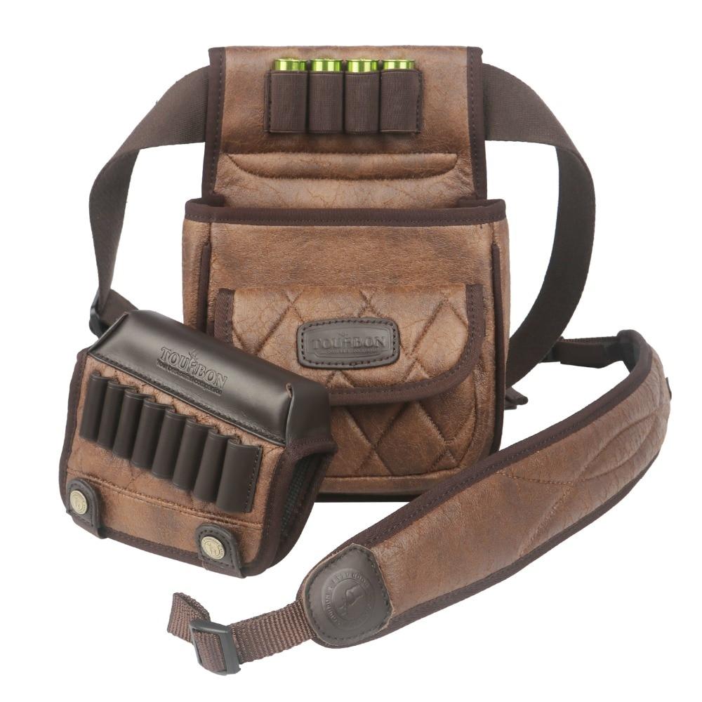 Tourbon Hunting Gun Accessories Shotgun Speed Loader Game Bag Rifle Cheek Rest Cartridges Holder Gun Sling Belt Strap(1 Set)